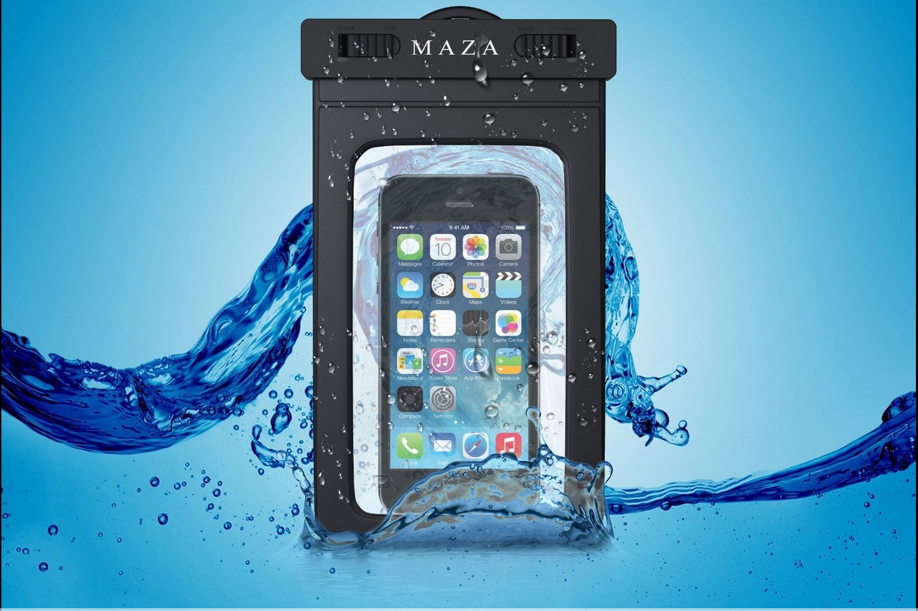 M A Z A Waterproof phone pouch