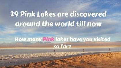 29 pink lakes