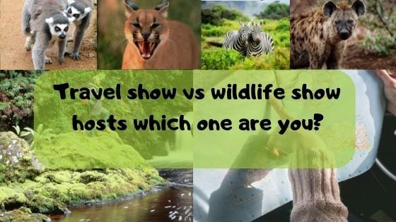 Travel show vs Wildlife show host