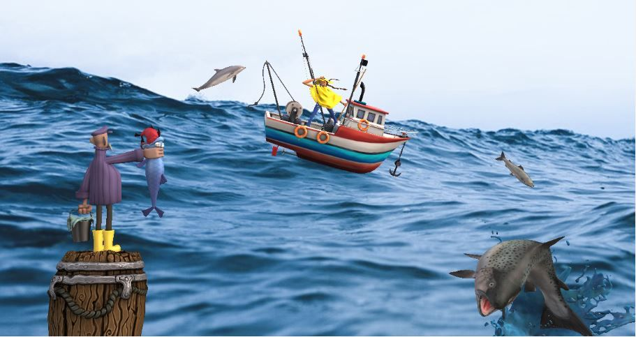 Animated graphic image of Fishing