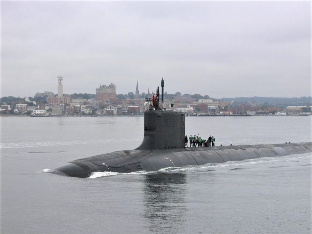 Nuclear Submarine at London (NOAA)