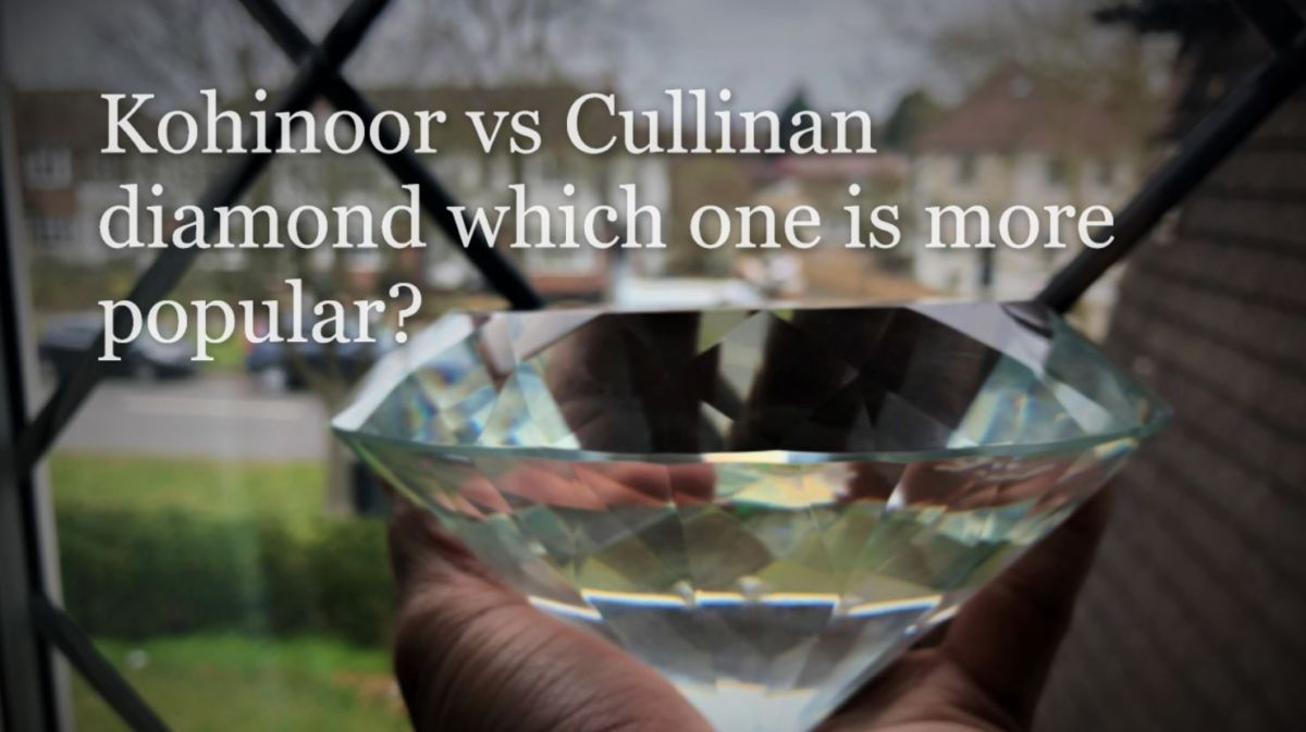 Diamond shape crystal size bigger than a palm