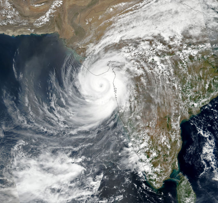 Satellite image of Cyclone Tauktae