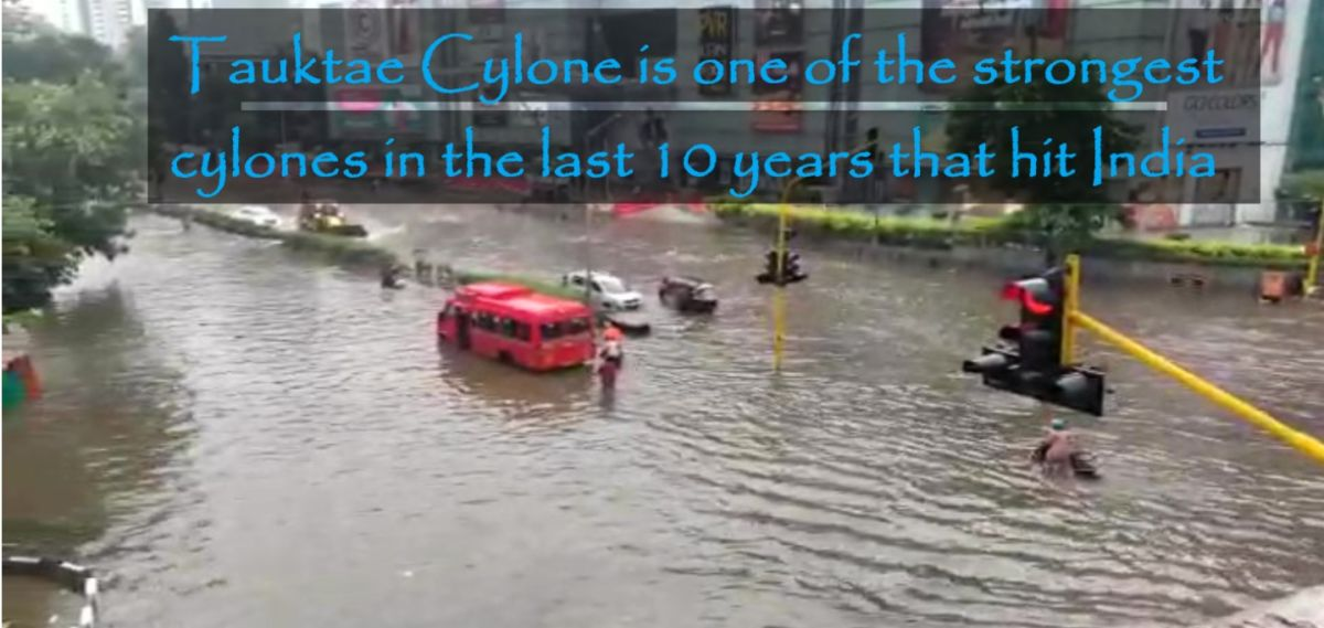 Flooded roads in Mumbai after Tauktae cyclone