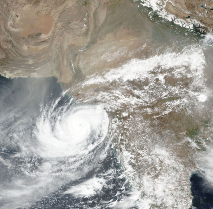 Cyclone Vayu from the year 2019